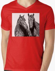 For the Love of Horses Mens V-Neck T-Shirt