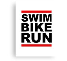 Triathlon - SWIM BIKE RUN -Run DMC Style Canvas Print