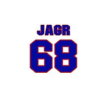 National Hockey player Jaromir Jagr jersey 68 Photographic Print