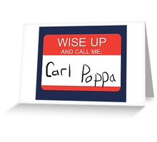 Carl Poppa. Greeting Card