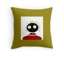 collectable, POLLY DOLLOPS, olive green, multicolors Throw Pillow