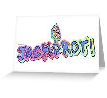 Jackprot! Dr. Steve Brule Casino Design by SmashBam Greeting Card
