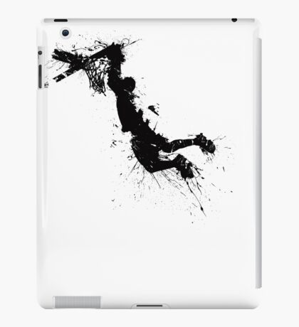 Basketball player dunk inked iPad Case/Skin