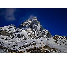 The Matterhorn from Cervinia Photographic Print