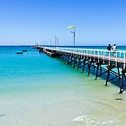 Beachport Jetty on a perfect day, South Australia by Elana Bailey