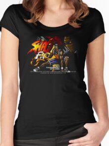 Shaq Fu (Genesis) Title Screen Women's Fitted Scoop T-Shirt