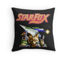 Star Fox (SNES) Title Screen Throw Pillow