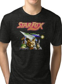 Star Fox (SNES) Title Screen Tri-blend T-Shirt