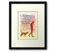 the noise is a man unfiltered Framed Print