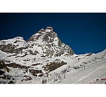 Matterhorn and ski area Photographic Print