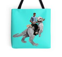 Spock rides the Tantan Tote Bag