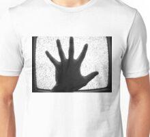 Hand over TV static Unisex T-Shirt