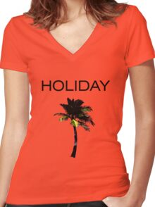 HOLIDAY Women's Fitted V-Neck T-Shirt