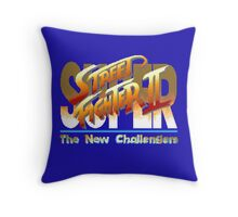 Street Fighter II (Snes) title Screen Throw Pillow