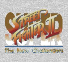 Street Fighter II (Snes) title Screen Kids Clothes