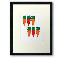 six Carrots cute! Framed Print
