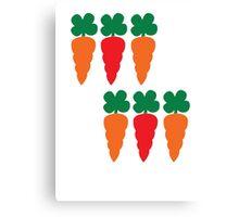 six Carrots cute! Canvas Print