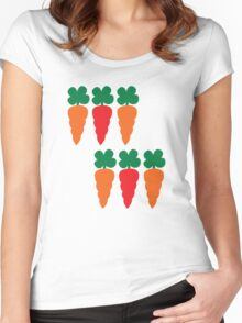 six Carrots cute! Women's Fitted Scoop T-Shirt