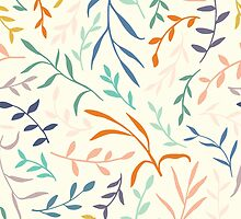 Flowing leaves by Tinly