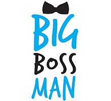 BIG Boss man with a Black Bow Tie Photographic Print
