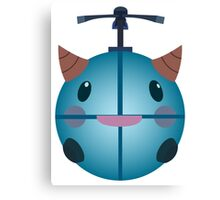 LoL - Snow Poro (with helicopter) Canvas Print