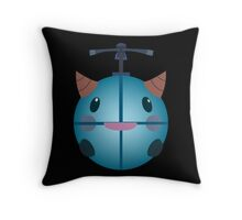 LoL - Snow Poro (with helicopter) Throw Pillow