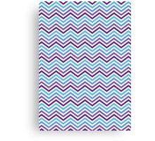 Retro Zig Zag Chevron Pattern Canvas Print