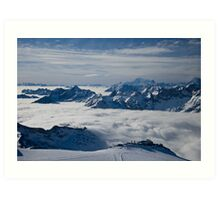 Really on top of the world 3 Art Print