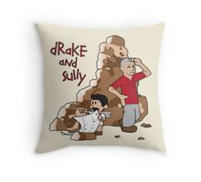 Drake and Sully Throw Pillow
