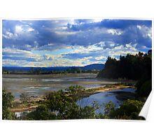 Sand flats, Abel Tasman, New Zealand Poster