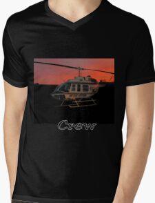Air Evac Helicopter Mens V-Neck T-Shirt