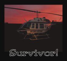 Air Evac Helicopter-Survivor by Brad Sumner