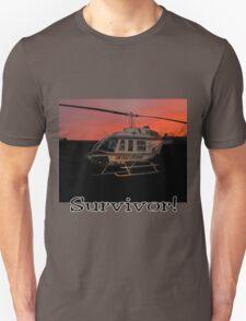 Air Evac Helicopter-Survivor T-Shirt