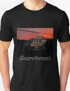 Air Evac Helicopter-Survivor T-Shirt