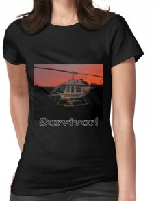 Air Evac Helicopter-Survivor Womens Fitted T-Shirt