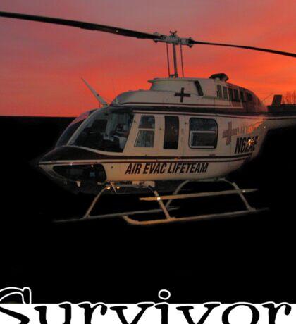 Air Evac Helicopter-Survivor Sticker