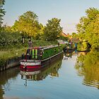Canal Boats on the River Lee at Harlow Mill Essex UK by Pauline Tims