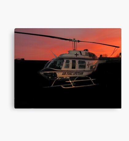Air Evac Helicopter Canvas Print