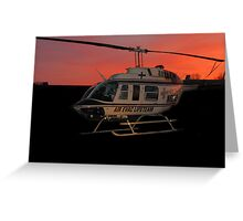 Air Evac Helicopter Greeting Card
