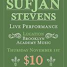 Sufjan Stevens gig poster concept by Bollenbach