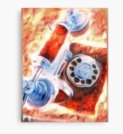 Old phone Canvas Print