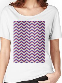 Retro Zig Zag Chevron Pattern Women's Relaxed Fit T-Shirt