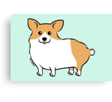 Cute Corgi Puppy Dog Canvas Print