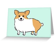 Cute Corgi Puppy Dog Greeting Card