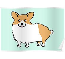 Cute Corgi Puppy Dog Poster