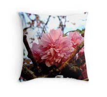 Pink Cherry Throw Pillow