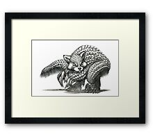 The Red Pandolin Framed Print