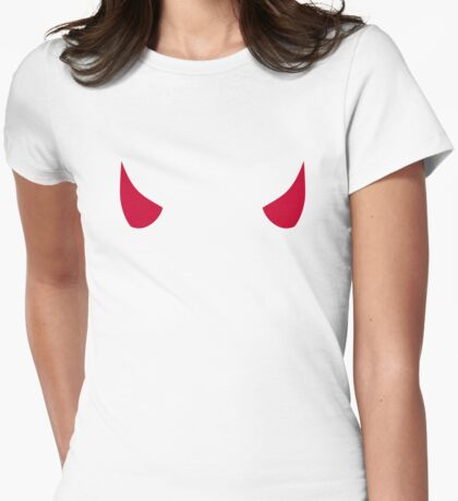 Red devil horns Womens Fitted T-Shirt