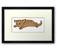 Tired Kitten Framed Print