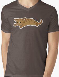 Tired Kitten Mens V-Neck T-Shirt